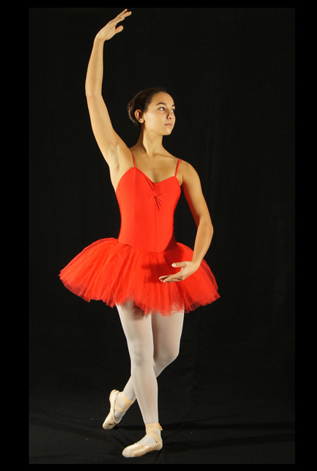 GTC7A - Tutu court rouge tulle plus souple