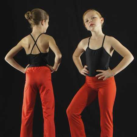 PP8 - Pantalon droit rouge en pitch